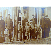 Cabinet Photo of Civil War Vets,Railroad Workers- Weidemann Beer & Baseball Caps