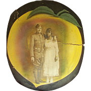 Two World War 1 Georgia Peaches at Camp Gordon Black Soldier & Wife