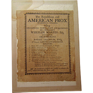 1814 Street Leaflet:  NO distillation Rye and Corn to Distress the Poor Providence,Rhode Island Wheeler Martin