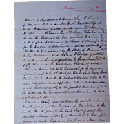 1872  Sante Fee Railroad Stock Agreement for $2,150,000 to buy 115 miles of Land in Kansas~ Anda P. Balch
