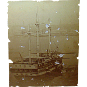 Albumen Photo of Battleship Vermont 1880
