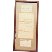 1869 & 1870 Northern New Hampshire Railroad Passes for Daniel Blasidell