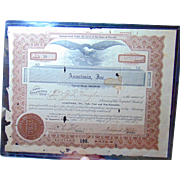 Anastasia Island,St. Augustine,Florida Stock Certificate from 1926 Davis Shores J.R.Vaughan