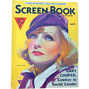 1933 Greta Garbo  Screen Book Magazine