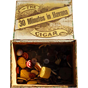Henry J. Pomar Cigar Company Saint Augustine, Florida Cigar full of Buttons