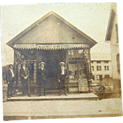 E.A. Dewey's News Store in Ruthven, Illinois Cabinet Photo~ Coke-Cola ,Baseball & Postcards