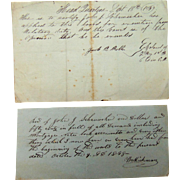 1839 Military Board Exemption Pass John Schumacher
