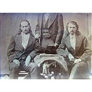 """Wild Bill"" Hickok and William F. Cody. ""Buffalo Bill"" Photograph 1873"