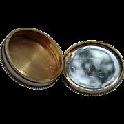 Antique Russian Sterling Silver Pillbox WW2 Family keepsake