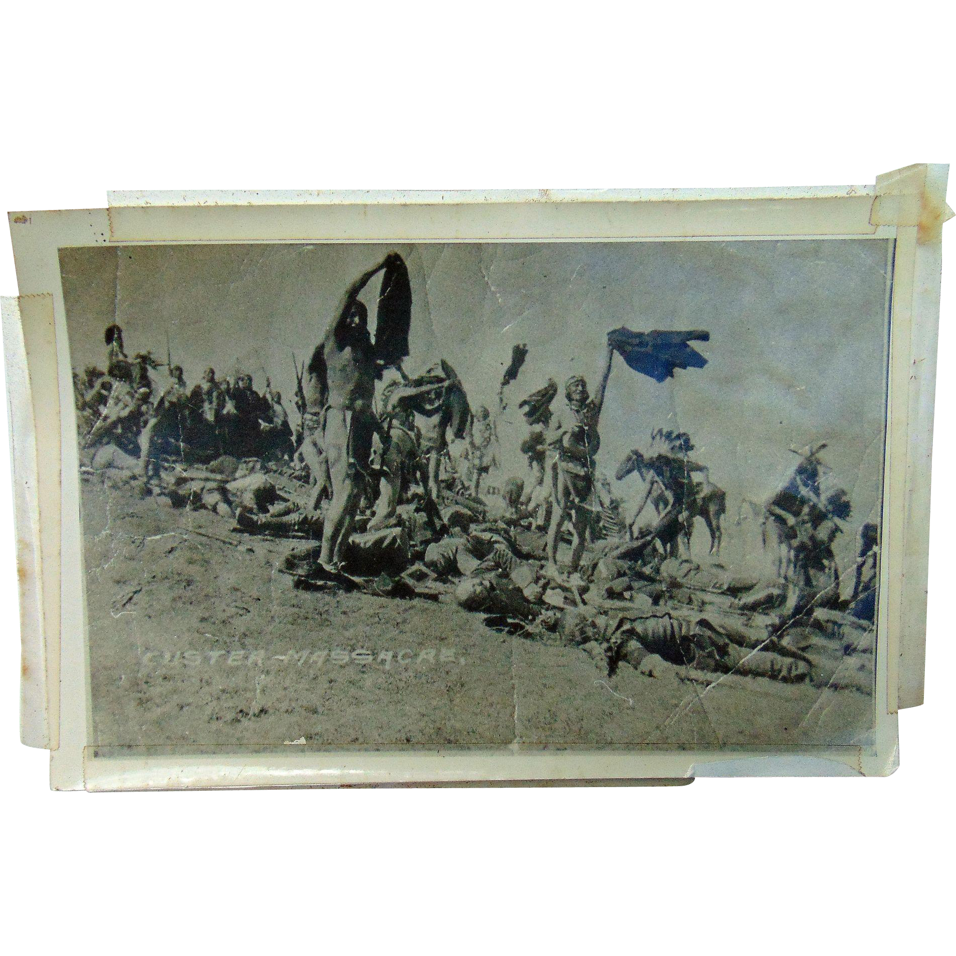 Little Big Horn Lakota Sioux and Cheyenne Warriors Scalping Custer & 7th Calvary
