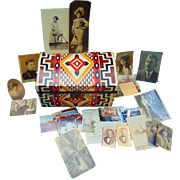Native American Family Archive with Decorated Doll Chest  Beverly Strudy