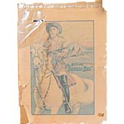 RARE Original 1910 Buffalo Bill Wild West Poster