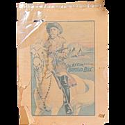 RARE Original 1910 Buffalo Bill Wild West Poster