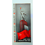 1939 Worlds Fair Soviet Union Hall of Nations Brochure