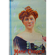 1880's Theater Poster for Victorian Superstar  Maria Tempest