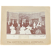 The Giffen and James Neill Theater Company of Savannah, Georgia 1890's photograph