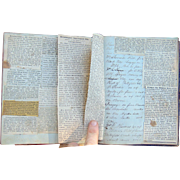 Incredible 19th century Port Lake Charles,Louisiana Diary Recipe Book of Grant Mutersbaugh