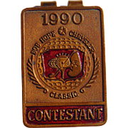 1990 Bob Hope PGA Golf  Chrysler Championship Custom Money Clip