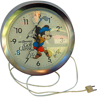 1983 Walt Disney World Golf Classic Payne Stewart Mickey Mouse Wall Clock