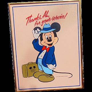 Mickey Mouse Original Art from the Walt Disney World Golf Classic 1970's