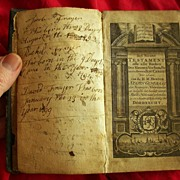 1771 American Family Bible with Fryer Family Genealogy