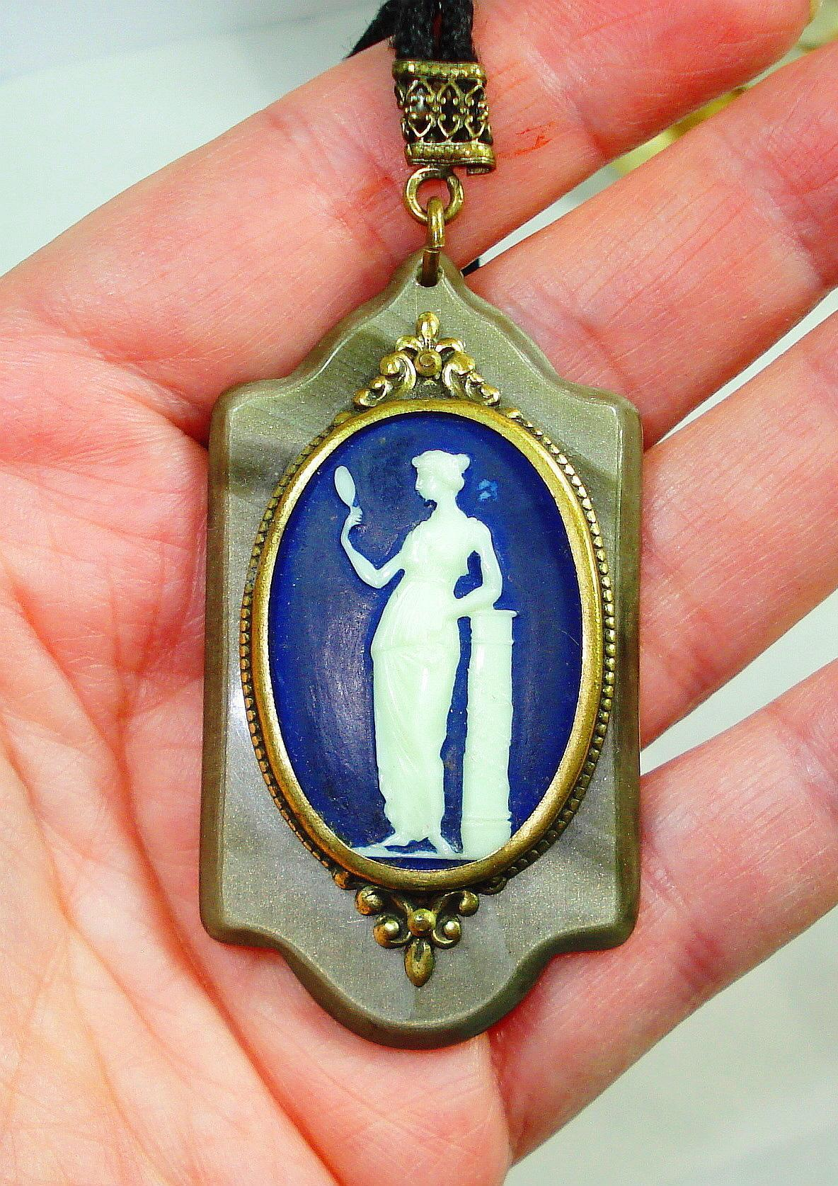 1920s French Bakelite Cameo Necklace