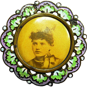 Enamel Suffragette Pin Victorian Women's Right to Vote