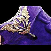 RARE Parklane Jeweled Art Deco Deep Violet Velvet Purse