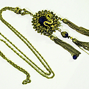 Fab Drippy Flapper Dragon Necklace with Dragon Slide