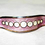 Sterling Enamel Victorian Corsage Pin