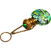 Jeweled Venetian Art Glass Chatelaine Perfume Bottle