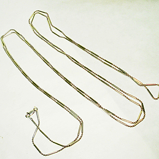 """60"""" Sterling Silver Unusual Links Necklace Chain"""