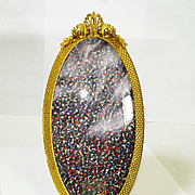 Lg Ornate Gilt Frame w Curved Glass Beautiful!