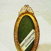 Victorian Miniature 24kt Gold Gilt Frame Unused ADORABLE!