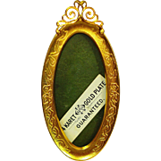Victorian Miniature 24kt Gold Gilt Frame Unused ADORABLE!