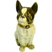 Figural Jar French Bulldog Old Made in Japan