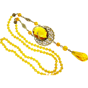 Edwardian Figural Snake Czech Long Necklace