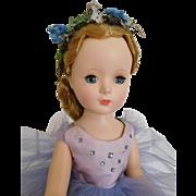 "Vintage 1950's Margo Margarette Face 14"" Hard Plastic Tagged Ballerina"