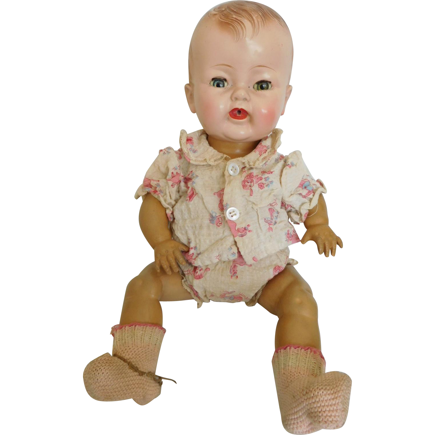 """Vintage 1952 Rare """"I Love Lucy Baby"""" Hard Plastic & Rubber 15"""" Orig. O/F"""