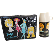 Vintage 1965 Barbie & Francie Vinyl  Lunch Box & Barbie Midge Skipper Thermos