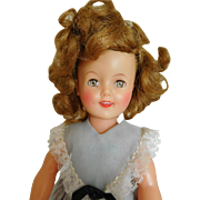 "Vintage 1950's Ideal 12"" Shirley Temple Vinyl w/ Original Dress"