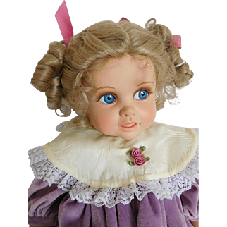 "20"" Dolls by Jerri McCloud Happy Vinyl Girl w/ Side Glancing Blue Eyes"