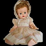 "Vintage 1950's Ideal 20"" Betsy Wetsy Vinyl Baby w/ Original Clothes"