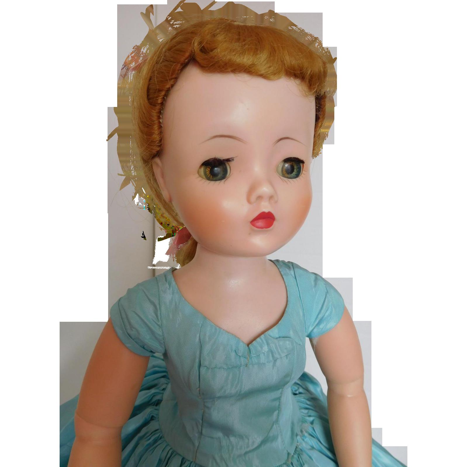 """Vintage 1950's Alexander 21"""" Cissy Fashion Doll w/Original Tagged Dress"""