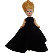 """Gorgeous! Vintage 1950's Vogue 10"""" Jill Hard Plastic Fashion Doll in Tagged Gown"""