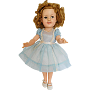 "Vintage 1950's Ideal 17"" Shirley Temple Vinyl Flirty Eye Original Dress Shoes"