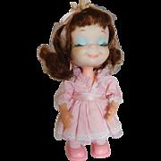 "Vintage 1968 Uneeda 8"" Suzana Little Sophisticate in Pink Stripe All Orig. Japan"