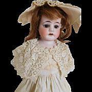 """13"""" E. Heubach Bisque Shoulder Head Child w/ Antique Clothes"""