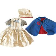 Vintage 3 Piece Nurse Outfit Dress for (M) Medium Size Doll