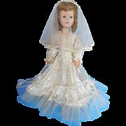 "Vintage 1950's American Character 17"" Sweet Sue Bride Hard Plastic All Original"